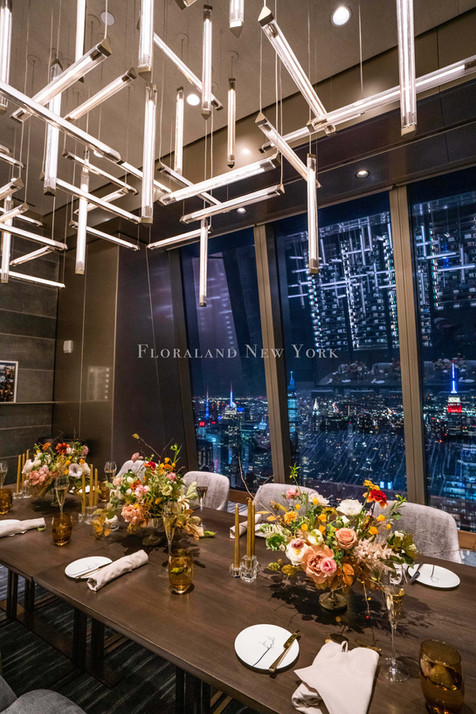 Private Dinner Floral Design on the Peak