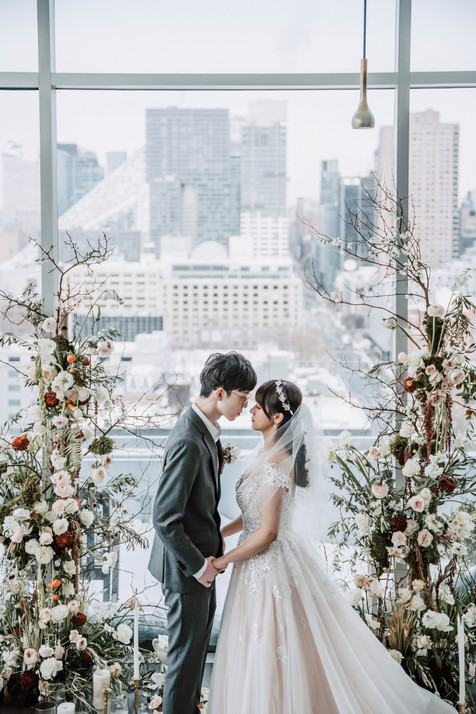 Penthouse Wedding Design in Winter