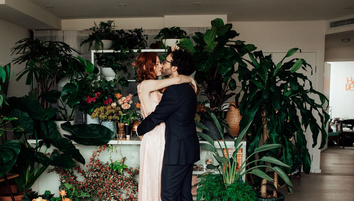 Home Ceremony Decorated with Beautiful Flowers and Greens