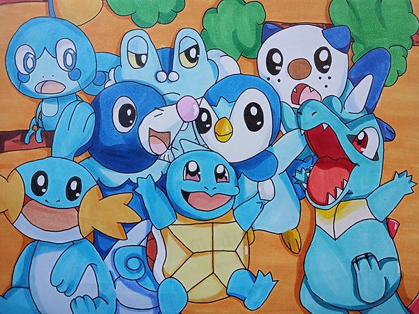 Pokemon mit Markern