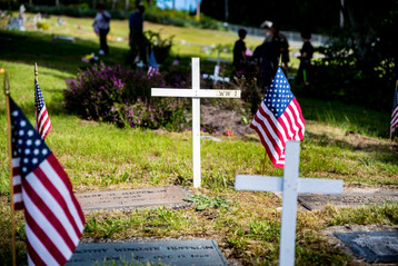 Memorial Day remembrance at Twin Firs Cemetery in Belfair, WA.