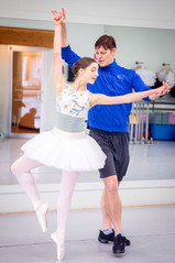 Dancers for Studio West Dance Academy rehearse a scene from The Nutcracker.