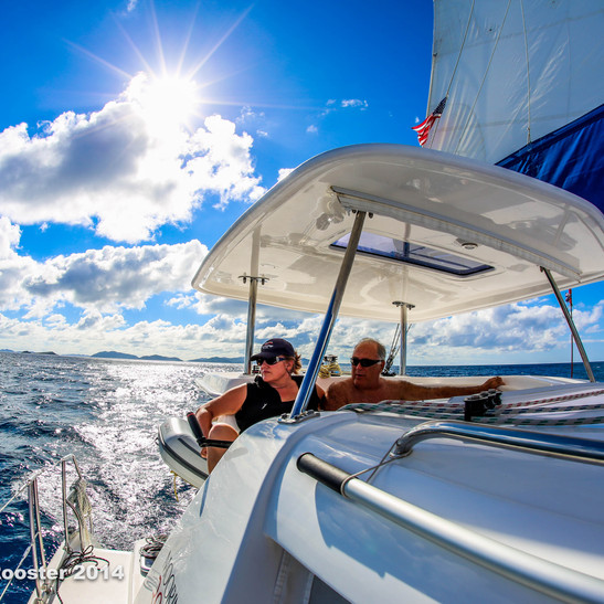 Sailing in the Caribbean