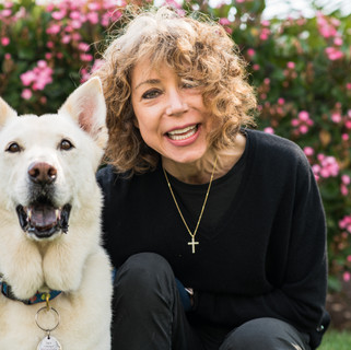 Headshot of Gina and Dog