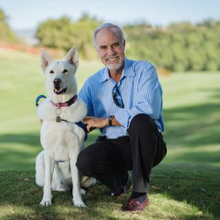 Headshot of Jim and Dog