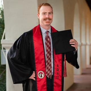Zack SDSU Graduation Photo