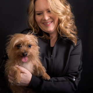 Headshot of Dog and Owner