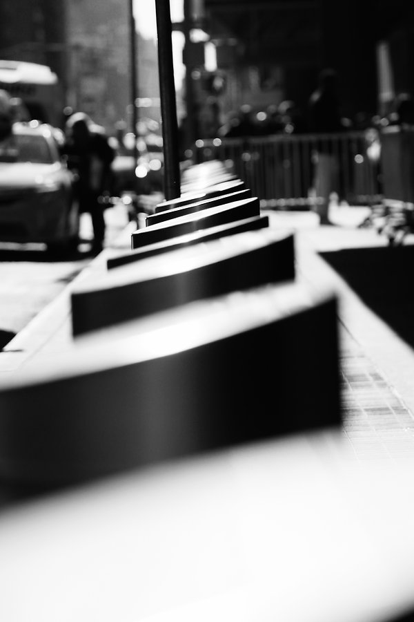 New York City - Pillars - Street photography - Black and white photography
