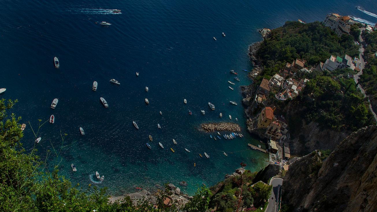 Boats in a bay - Amalfi Coast - Italy