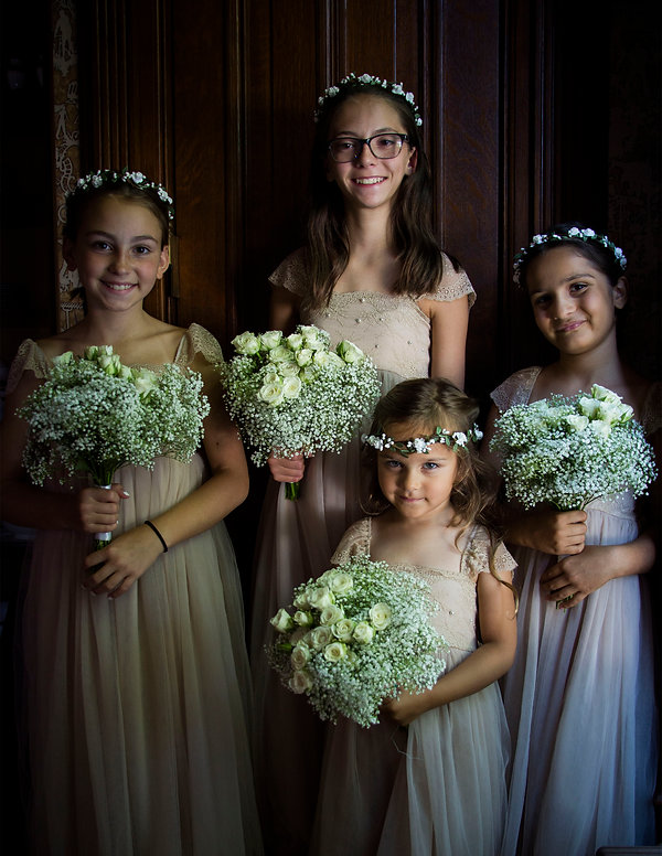 Brides maids in window light - Wedding photography