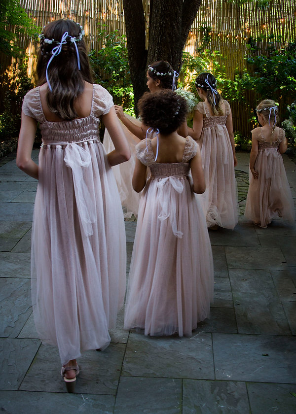 Brides maids in backyard wedding - Wedding photography