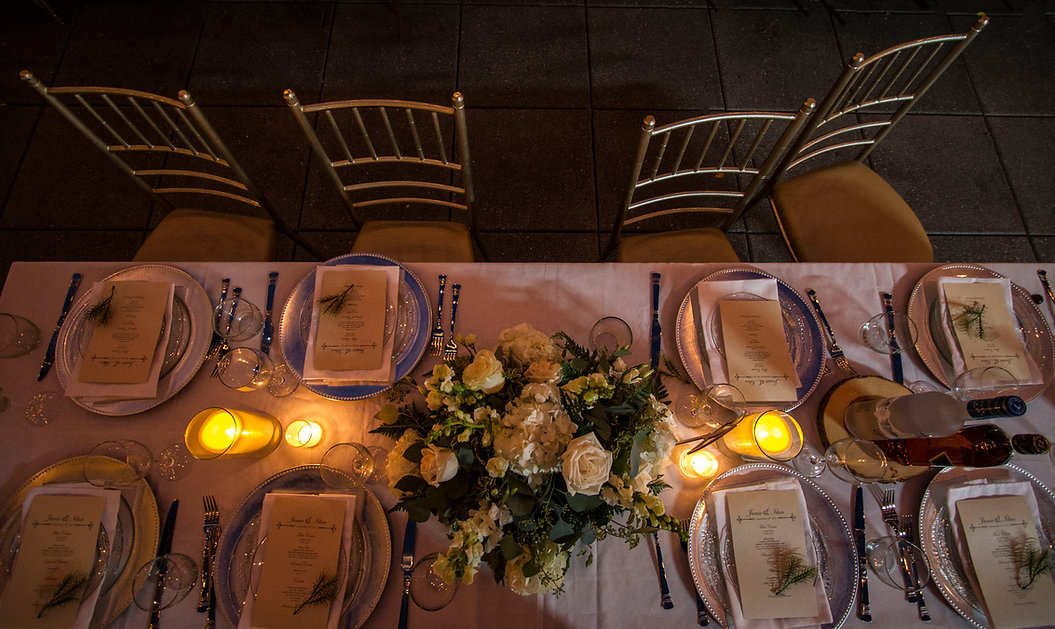 Table decoration at wedding - Wedding photographer - Wedding photography