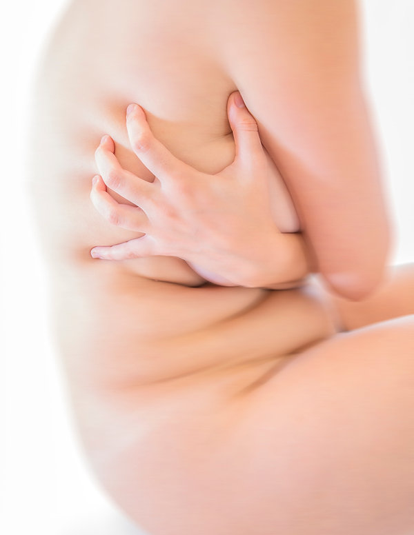 Woman holds herself - Female  - Form and figure study - Samantha Light Fine Art photography