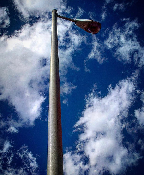 Street light in clouds - - Street photography
