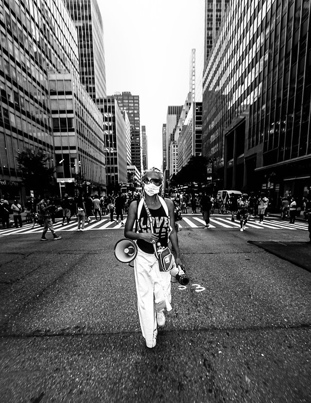 Caroline Gombe - Leading the Black Lives Matter March in NYC - Street photography