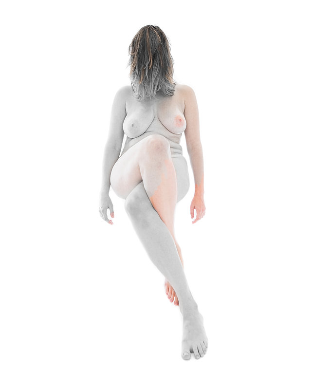 Woman body - Female  - Form and figure study - Samantha Light Fine Art photography - Painted woman
