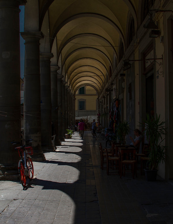 Archways lit by sunlight - Italy