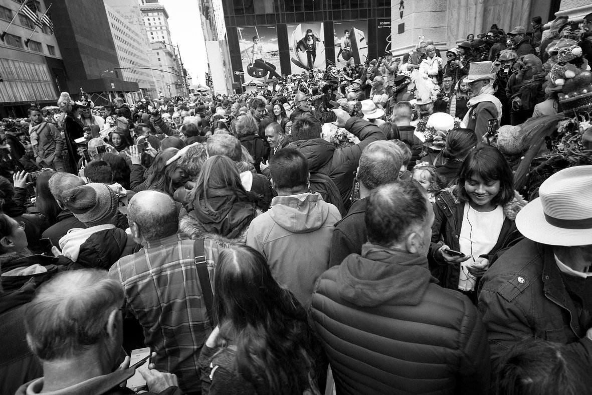 Crowded street in NYC - Street photography