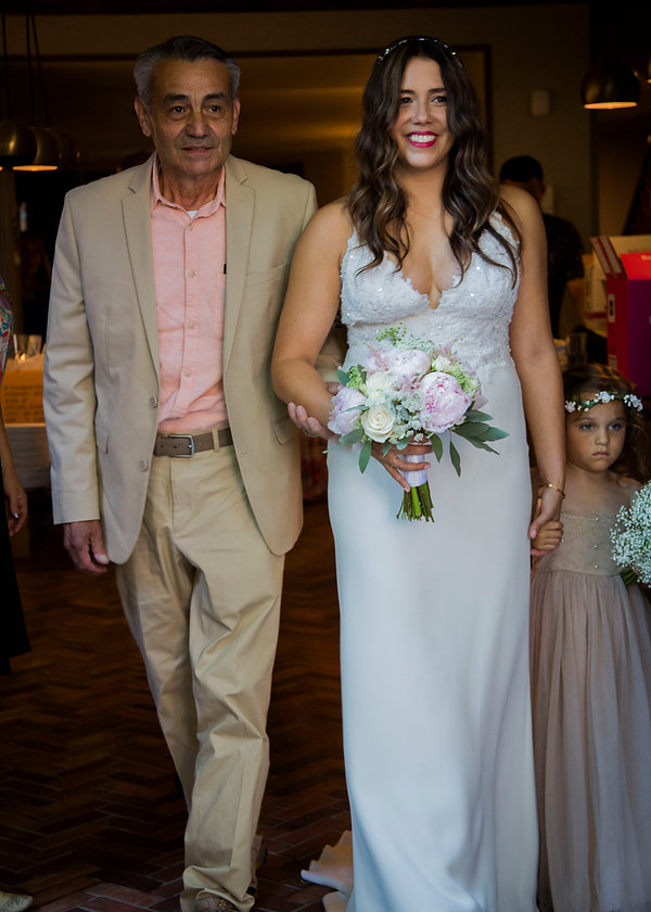 Bride walking wiht father on her wedding day - Wedding photography