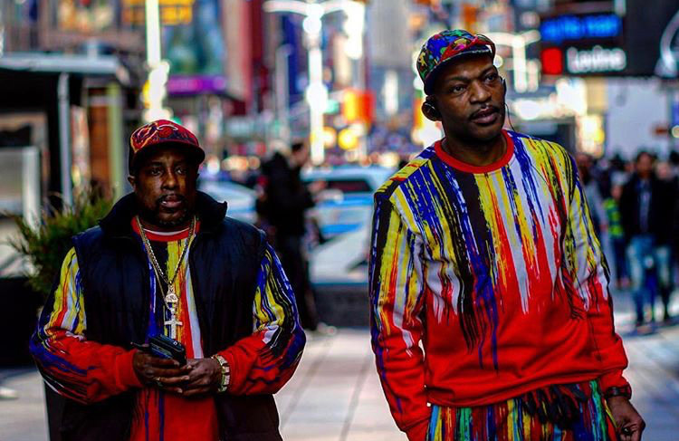 Men in NYC - Wearing bright color clothes - Street photography
