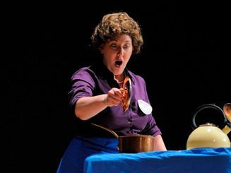 As Julia Child in Lee Hoiby's Bon Appetit for Opera Vivente