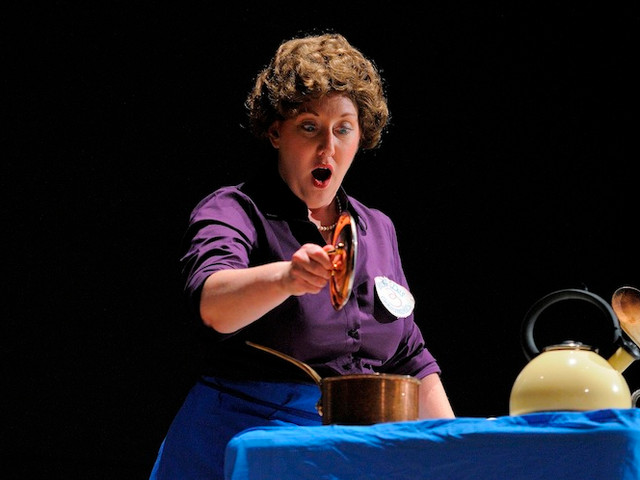 As Julia Child in Lee Hoiby's Bon Appetit for Opera Vivente