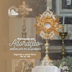 Paróquia tem Adoração ao Santíssimo de segunda a sexta