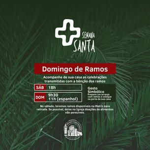 Domingo de Ramos - Programação