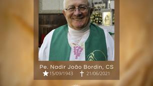 Nota de Falecimento - Pe. Nadir João Bordin, CS