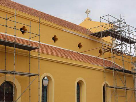A restauração e o andamento das obras