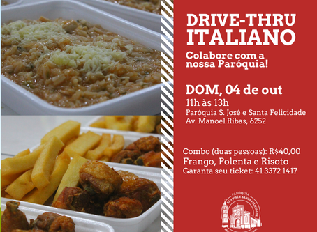 Paróquia convida para Drive-Thru Italiano