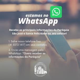 Receba nossas informações pelo WhatsApp!