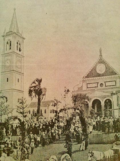 Inauguração da torre da Igreja de São José em Santa Felicidade - 1901