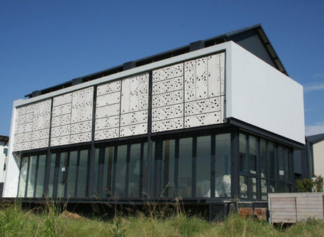 Nutec Fibre Cement shapes with waterjet cutting