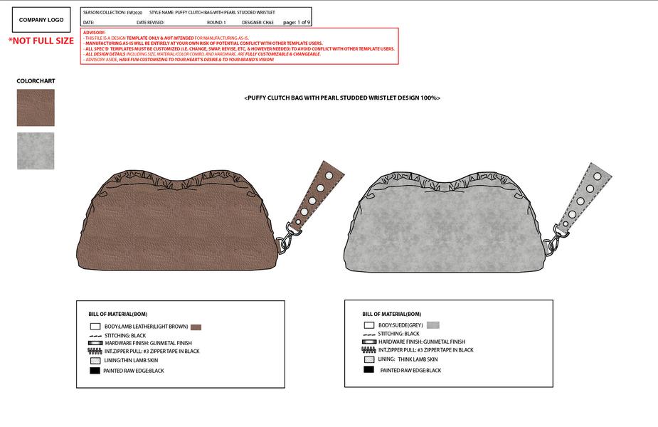 PUFFY CLUTCH BAG DESIGN