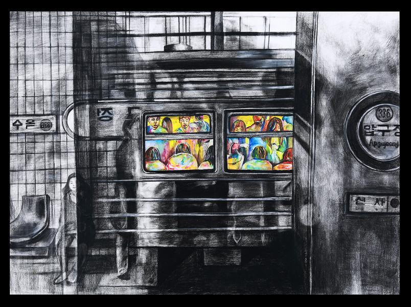 Reflection Over Subway