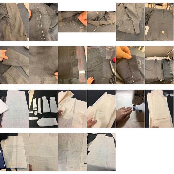 process of tailoring suite making Mens