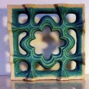 Etruscan  open  blue moorish tiles