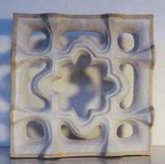 Etruscan 3d white tile