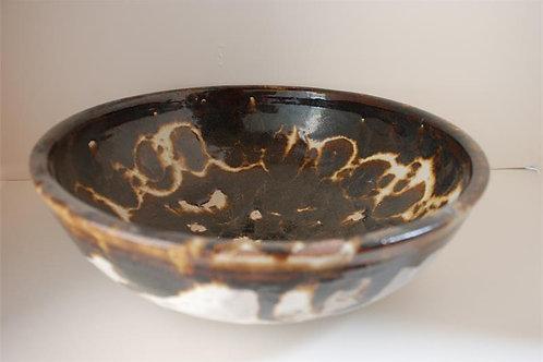 Brown & white wax resist bowl