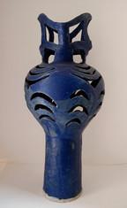 Blue Composite Vase