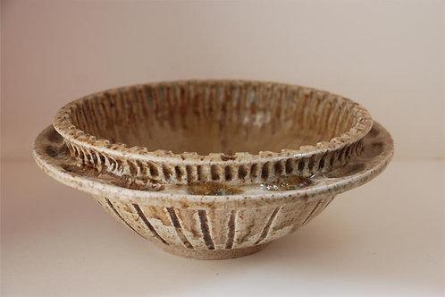 Double rim bowl