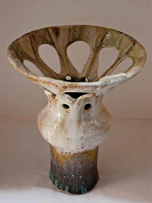 Flanged Carved Vase