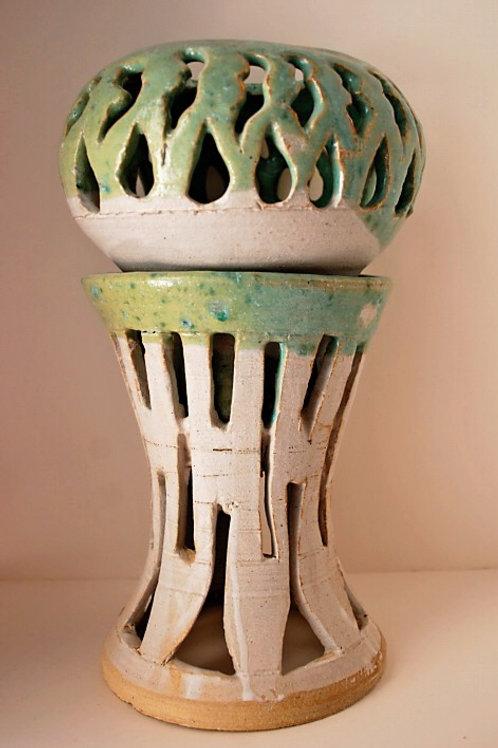 Carved lamp base