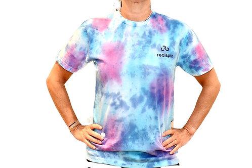 tie-dye t-shirt : marble (pink/blue)