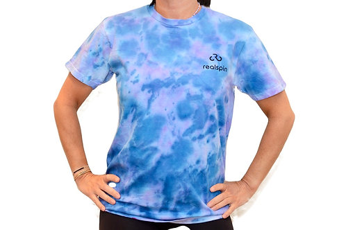 tie-dye t-shirt: marble (blue/purple)