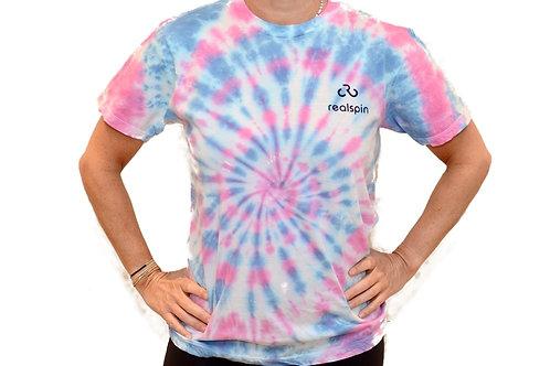 tie-dye t-shirt: swirl (pink/blue)