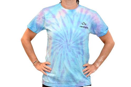 tie-dye t-shirt: swirl (blue/purple)