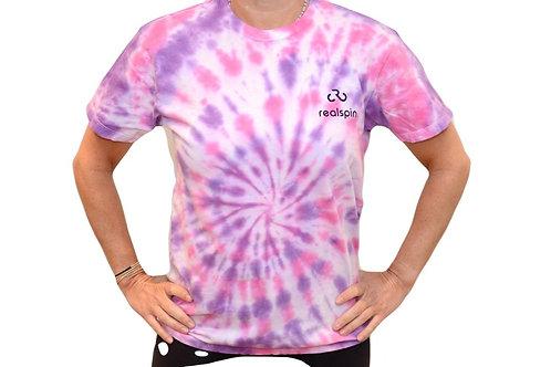 tie-dye t-shirt: swirl (pink/purple)