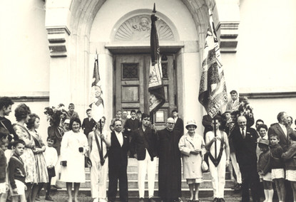 Inauguration de la bannière en 1962